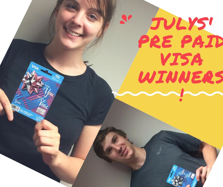 July winners!